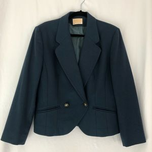 Pendleton Teal Blue Double Breasted Blazer 10